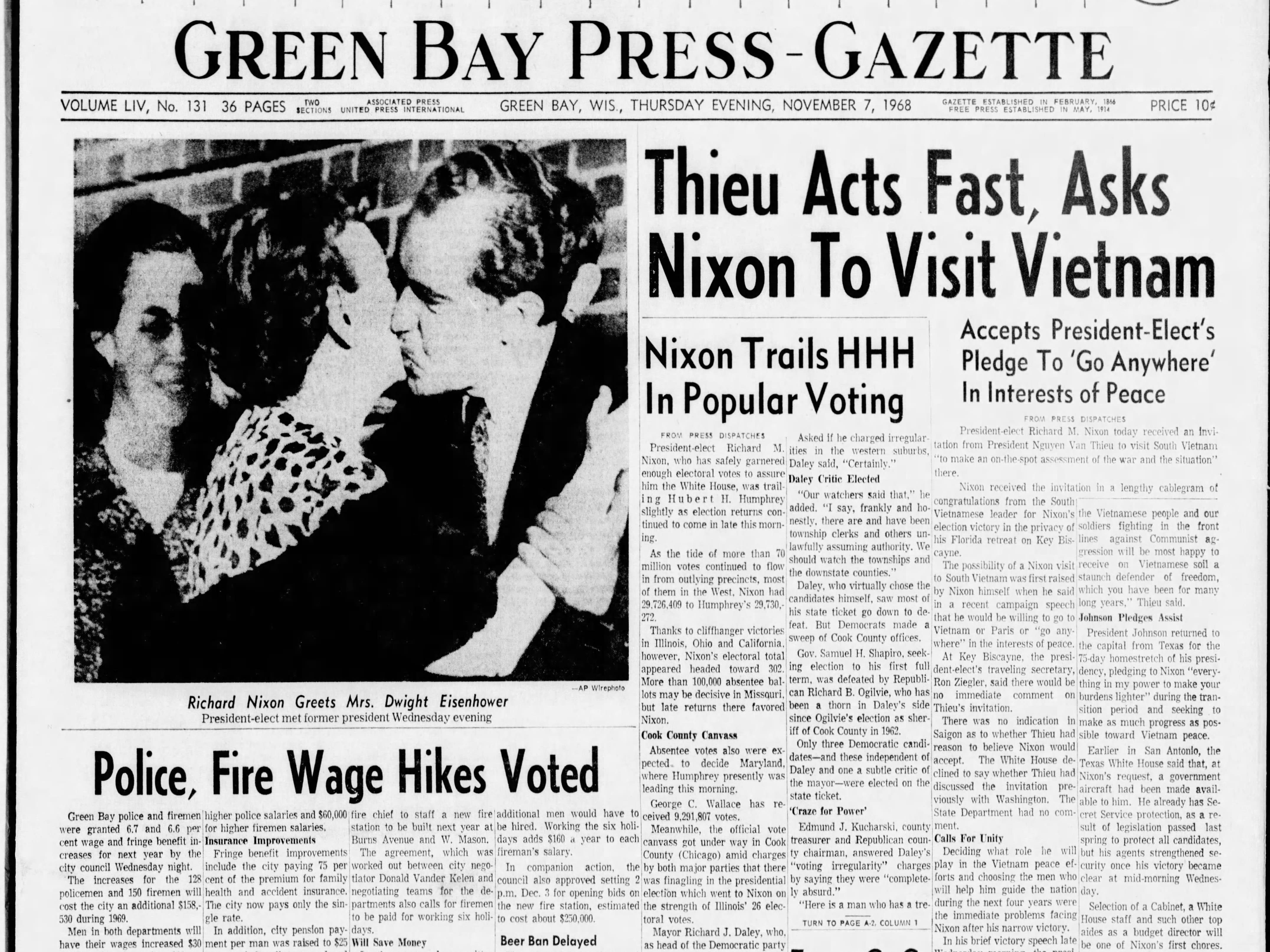 Today in History: Nov. 7, 1968