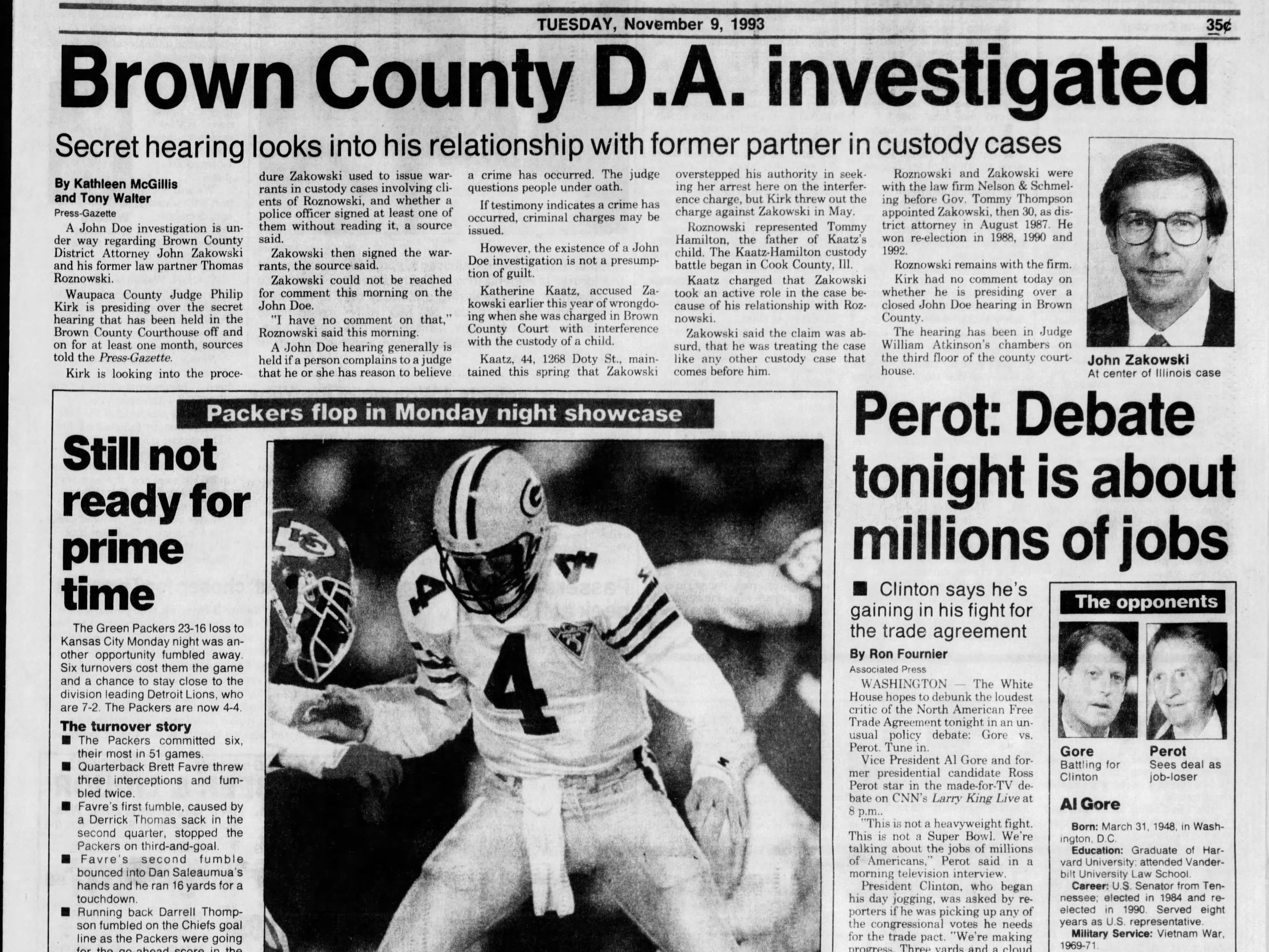 Today in History: Nov. 9, 1993