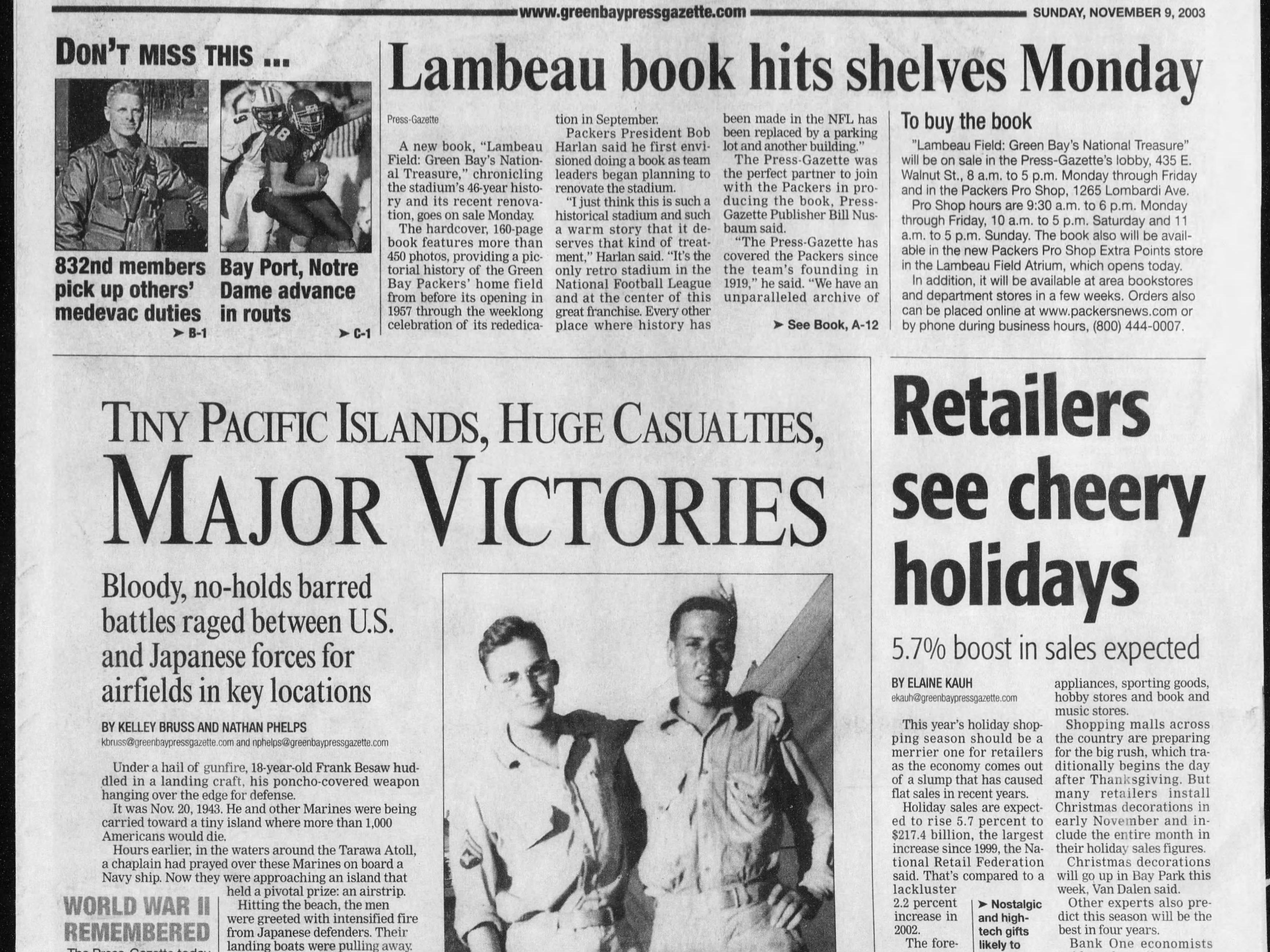 Today in History: Nov. 9, 2003