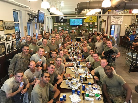Staff Sgt. Amanda Kelley with other participants in U.S. Army Ranger school.