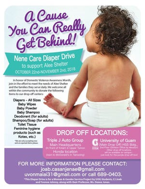 The diaper drive will last through Nov. 2.