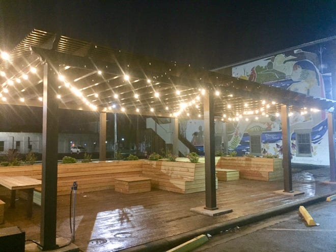 """An official grand-opening ceremony and ribbon-cutting is planned Friday, Nov. 2, at 4:45 p.m. at The Perch pocket park in downtown Henderson. The spot along the 200 block of Second Street has seating, a small stage area, a lighted pergola and a Henderson-themed mural in the background. More features, like a community events electronic """"smartboard,"""" are planned for the future. The mini park, which has already proven to be a popular lunch and gathering spot in nice weather, was paid for mostly with private funding and contributed labor. The Perch is located at 225 Second Street, directly across from the Citi Center Building."""