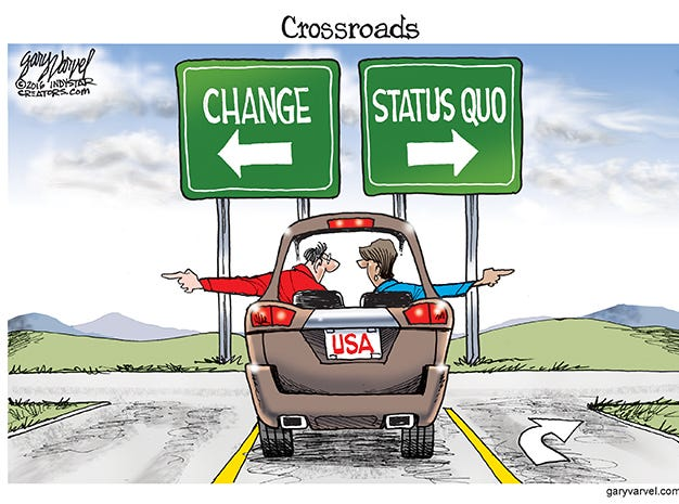 Voters eventually make a decision on which direction the country will go.
