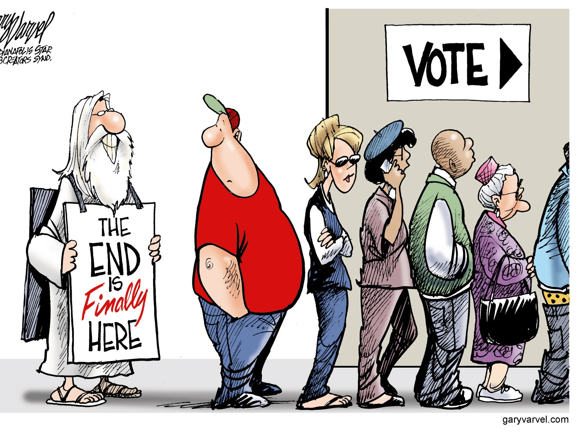 Voters are happy to see the end of the campaign.