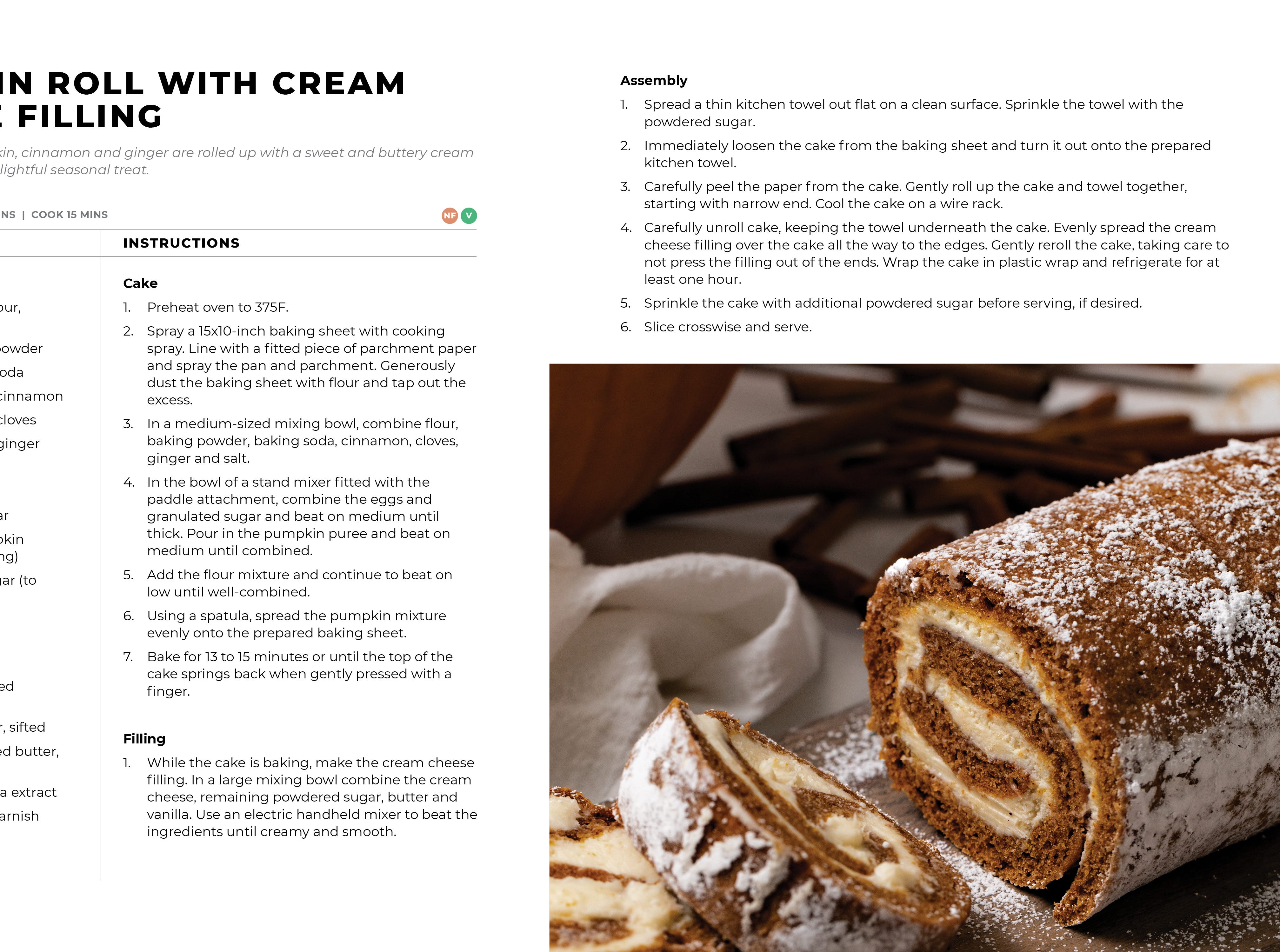 Modern Holiday Cookbook - pumpkin roll recipe