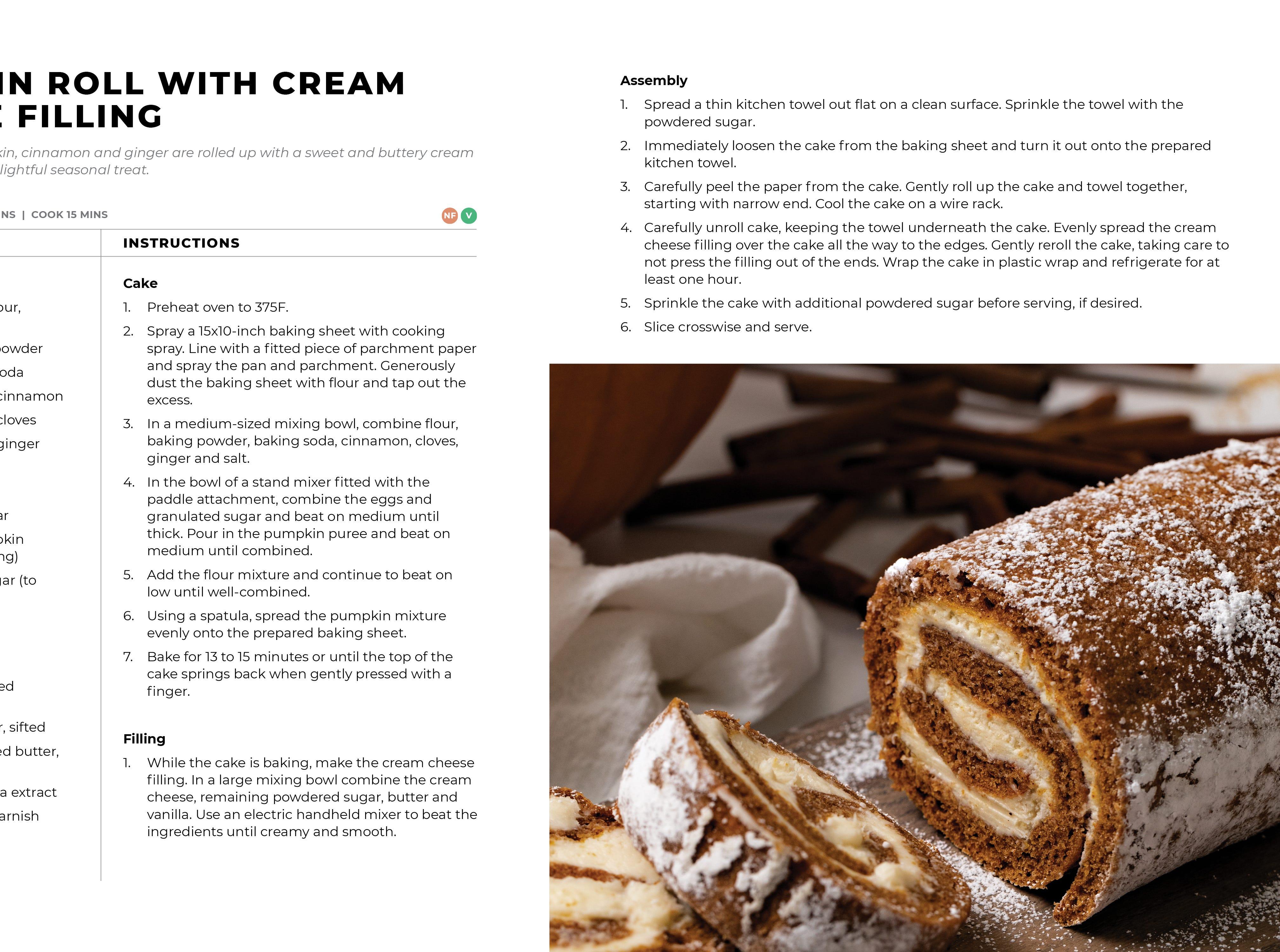 Modern Holiday Cookbook - pumpkin roll recipe