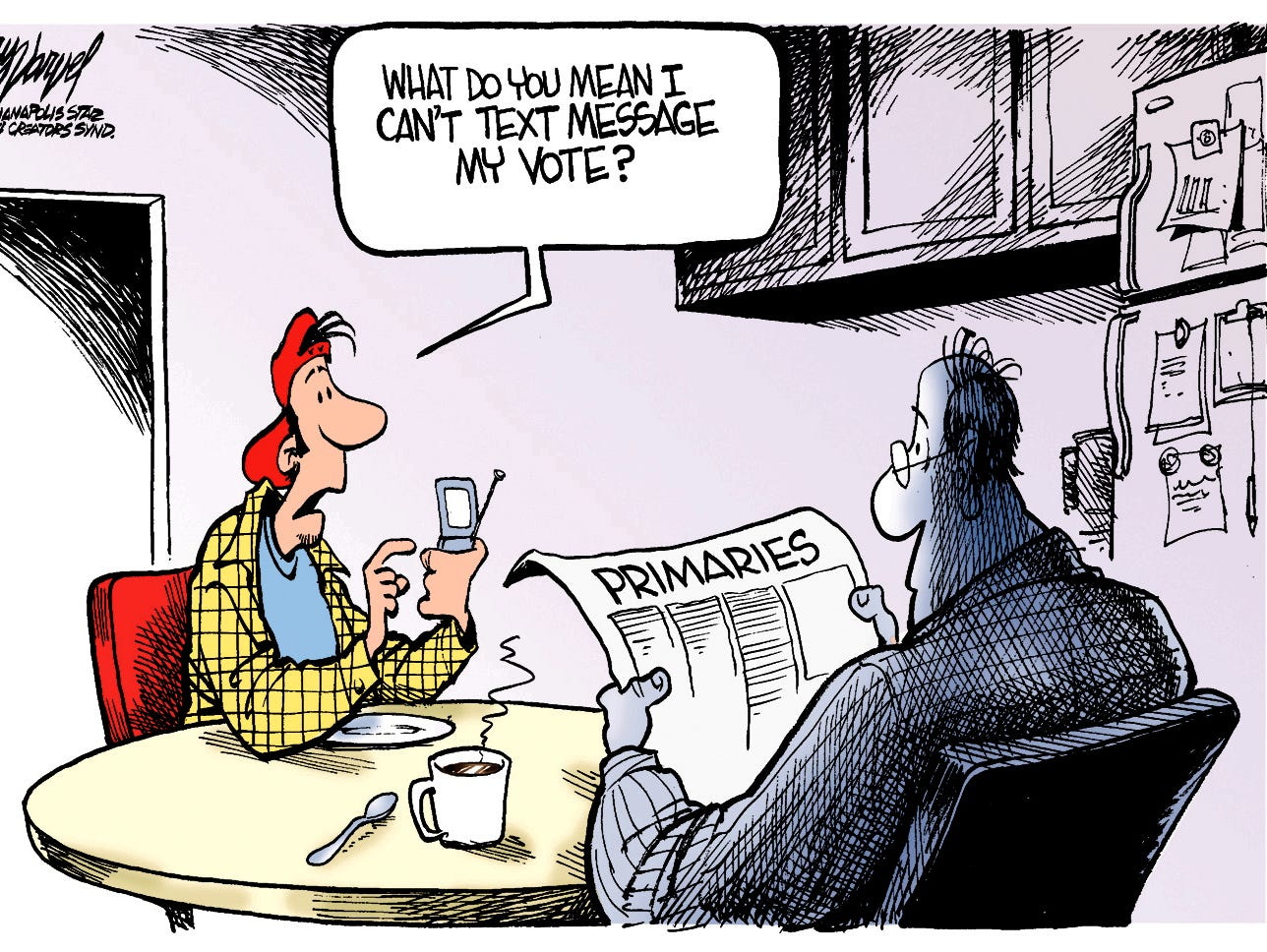 Young voters want more convenient ways to vote.