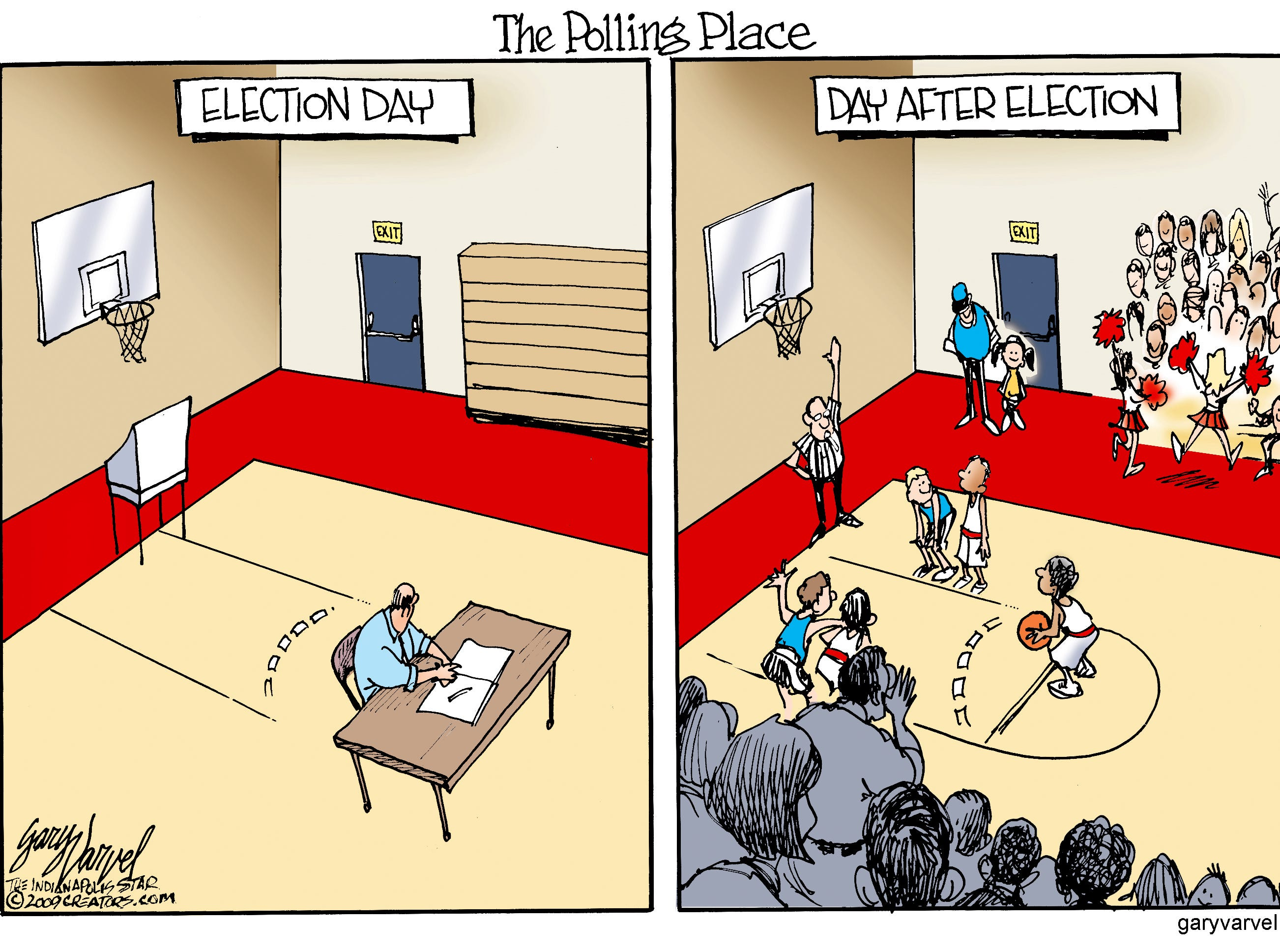 Some voters are more interested in other things.