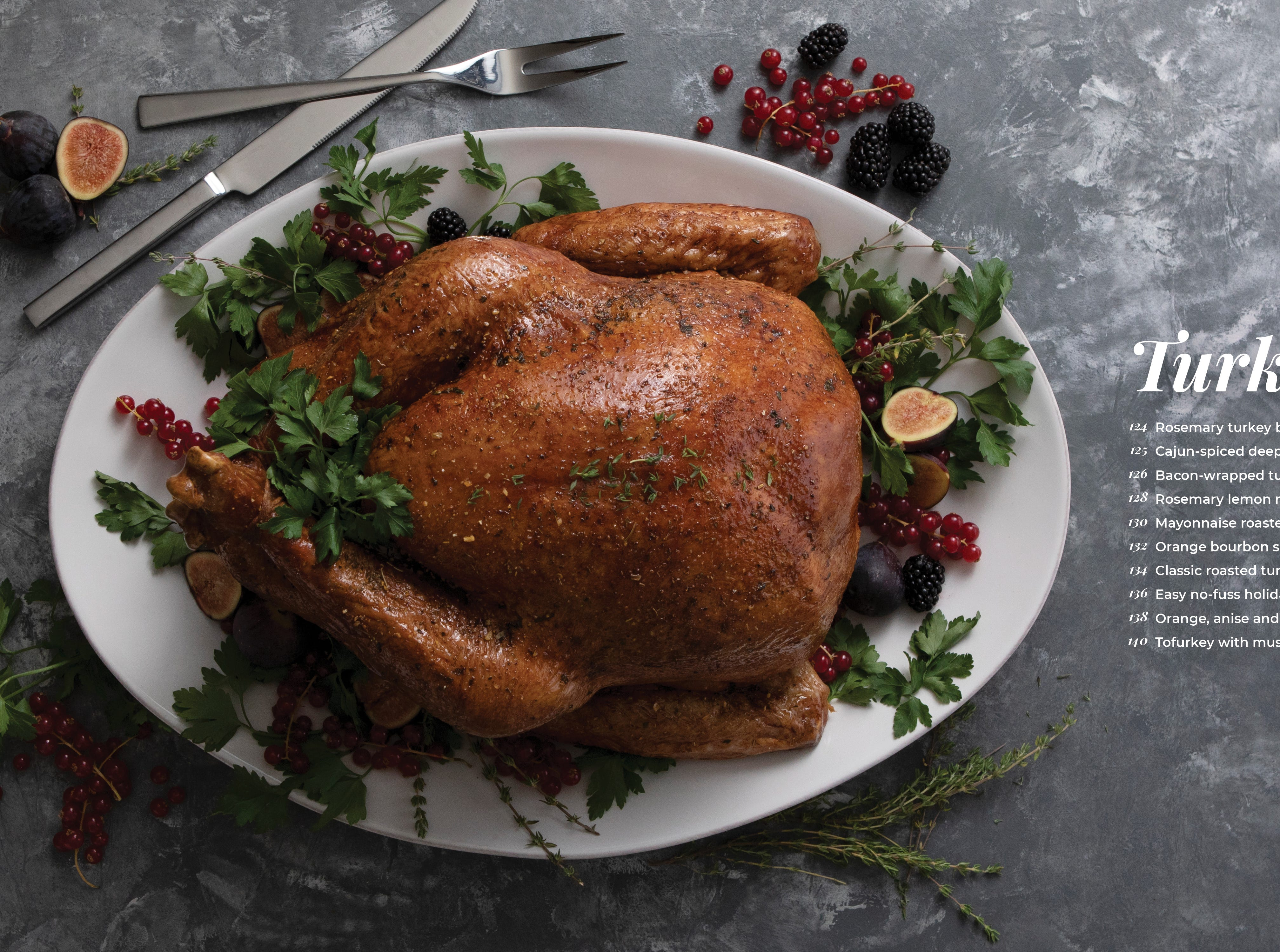 Modern Holiday Cookbook - list of turkey recipes