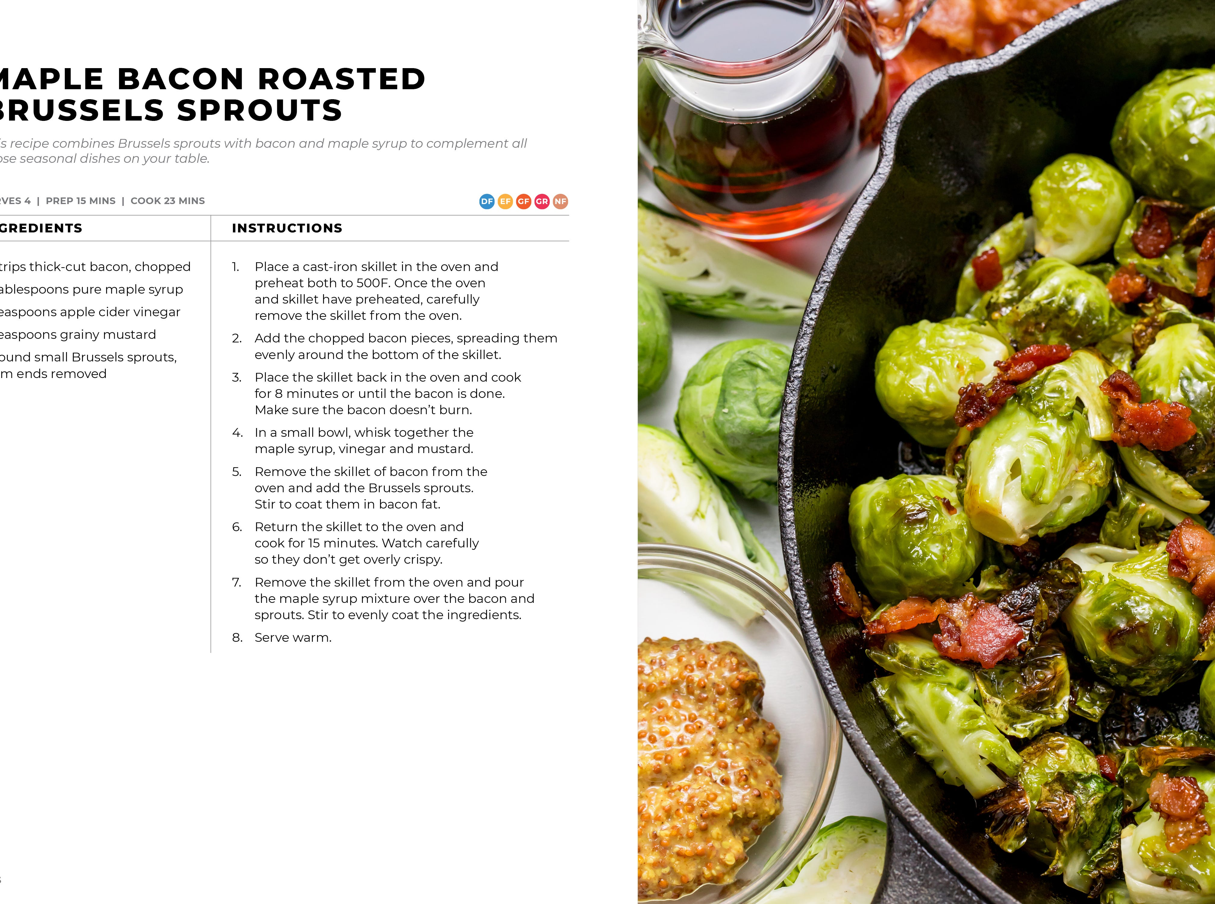 Modern Holiday Cookbook - brussels sprouts recipe