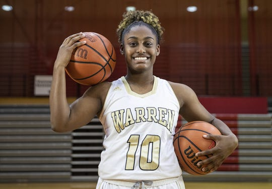 Warren Central's Shaila Beeler, a member of the central Indiana girls basketball Super Team, Tuesday, Oct. 23, 2018.