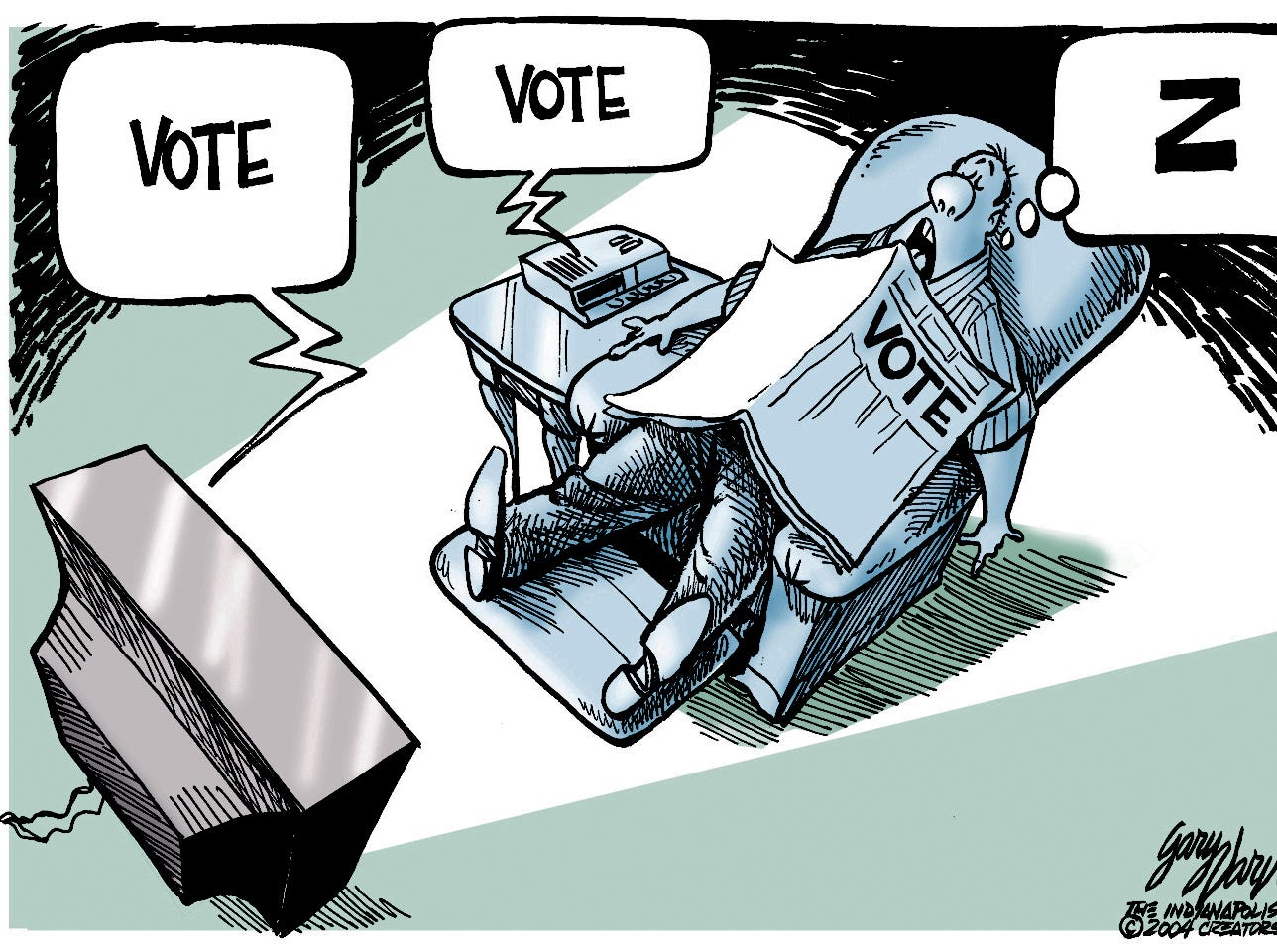 Voter apathy is alway a problem.
