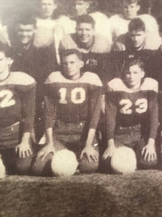 Mississippi Rep. Ray Rogers (10) started at quarterback and was a captain on Pearl's first football team, in 1949.