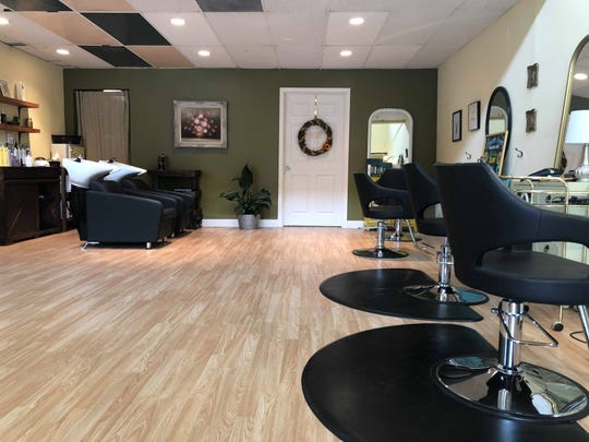 The salon is a bright open space at Bee's Knees Hairdressing Salon on Sevier Avenue.
