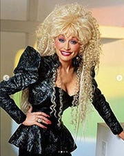 Dolly Parton posted this image on Instagram as a Halloween costume suggestion.