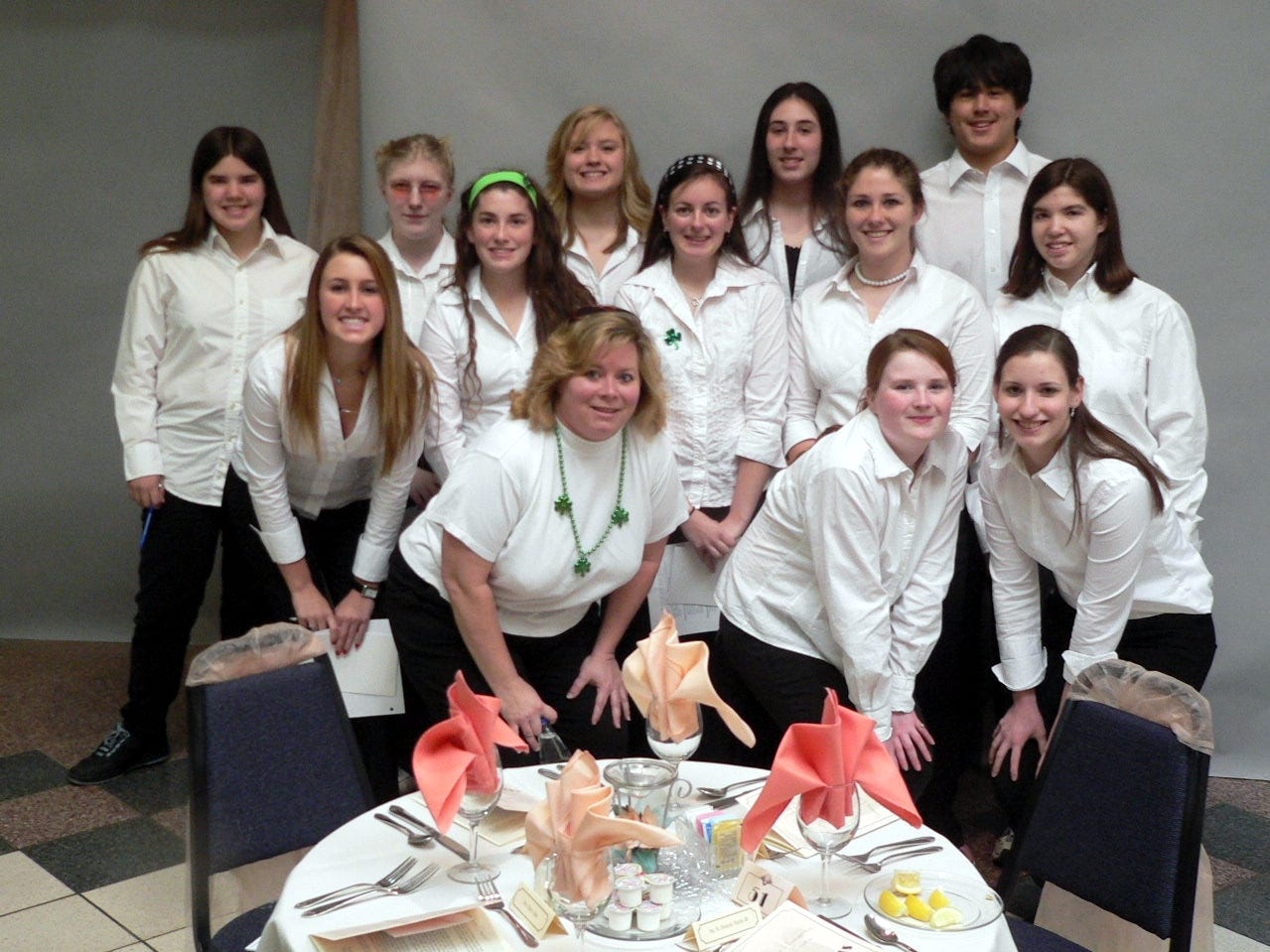 Clinton High School showed their support of the Habitat for Humanity Organization on March 17th by serving as wait staff for the 3rd annual benefit gala.