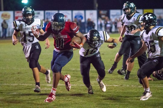 North Vermilion's Malik Criner powered his way to 131 yards and two touchdowns to get the Patriots on the brink of an upset of No. 5 Kaplan.