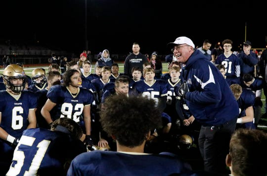 Lancaster football coach Rob Carpenter helped lead the Golden Gales to a massive upset of nationally-ranked Pickerington Central, and the Gales won a share of their first Ohio Capital Conference-Ohio Division title since 2009.
