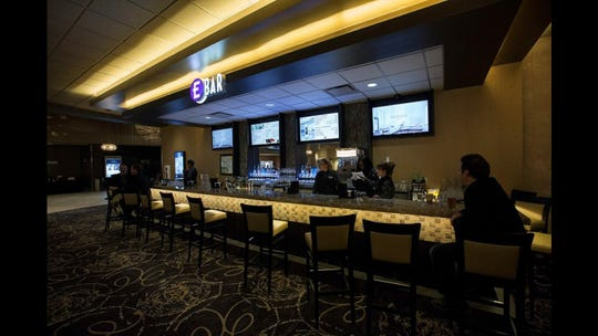 A bar at Emagine Entertainment's movie theater in Frankfort, Ill. is similar to one being built at the company's soon-to-open theater in Hartland Township.