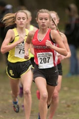 Pinckney's Vivi Eddings (207) made all-state last season by placing 21st in the state Division 1 cross country meet.