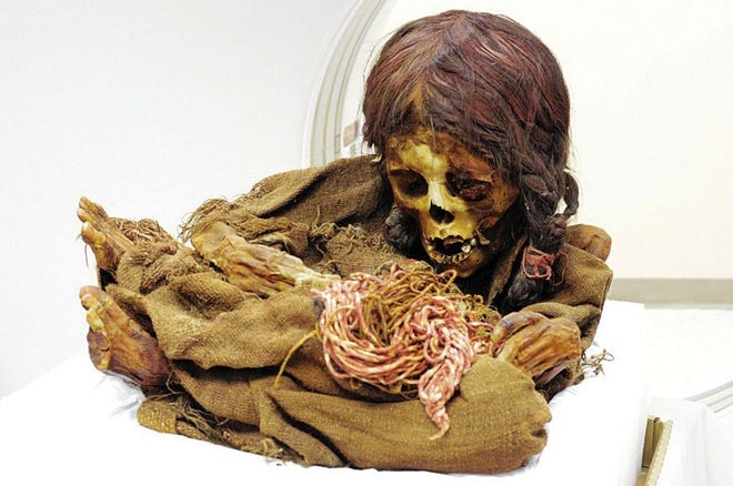 The mummified remains of an 8-year-old girl who died in the 15th century are being repatriated to Bolivia by Michigan State University