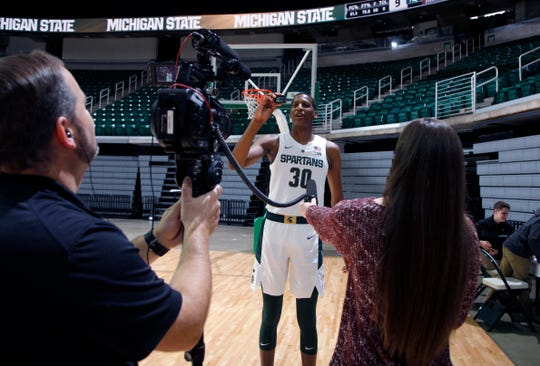 MSU freshman Marcus Bingham Jr. was a hit at media day last night. No one knew what his role would be this season. It seems to be growing.