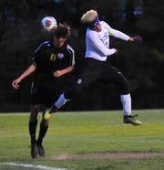 Ontario's Jayden Jacobs helped the Warriors compile a 12-6-2 record and an MOAC championship on the soccer field. He scored a pair of goals, both headers, while playing as one of the Warriors' best defenders.