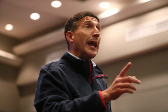 Congressman David Kustoff speaks to a few dozen constituents at the Collierville Town Hall on Friday, Dec. 26, 2018.