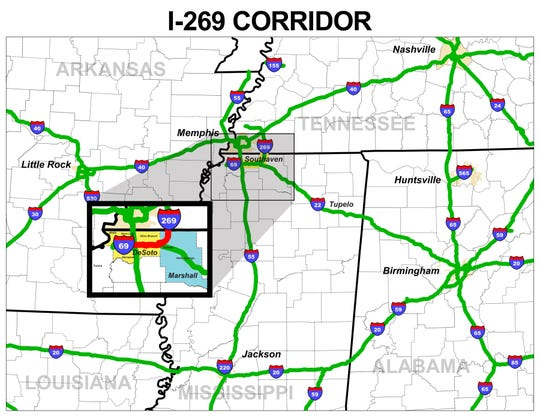 I69 Arkansas Map.I 269 Finished In Desoto County Mississippi Connecting I 55 And I 40