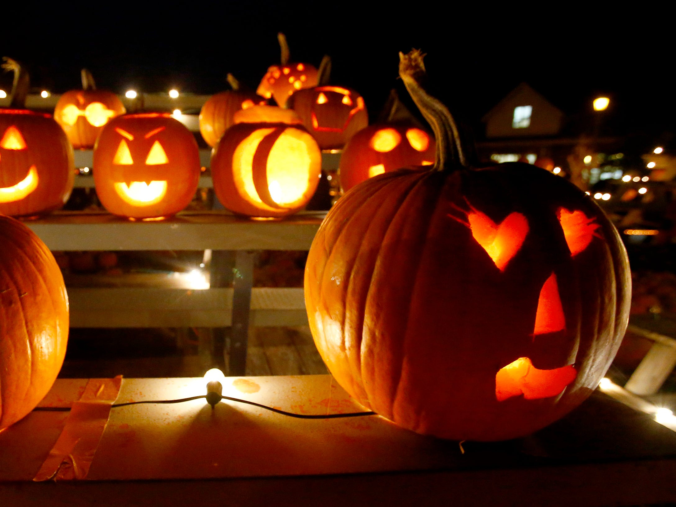Pumpkins are on display at the 32nd annual Whitefish Bay Great Pumpkin Festival at Old Schoolhouse Park, hosted by the Whitefish Bay Civic Foundation, on Oct. 25. The festival runs from 6 to 9 p.m. Wednesday, Oct. 24, through Sunday, Oct. 28.