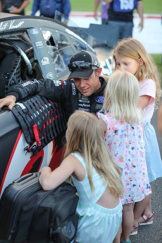Matt Kenseth is letting his heart guide his racing career, and right now 4 little girls are in charge