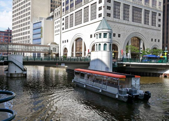 The Wisconsin Avenue Bridge is a signature site in downtown Milwaukee. The skywalk - seen in the background - is a great place to stroll on a cold winter day.