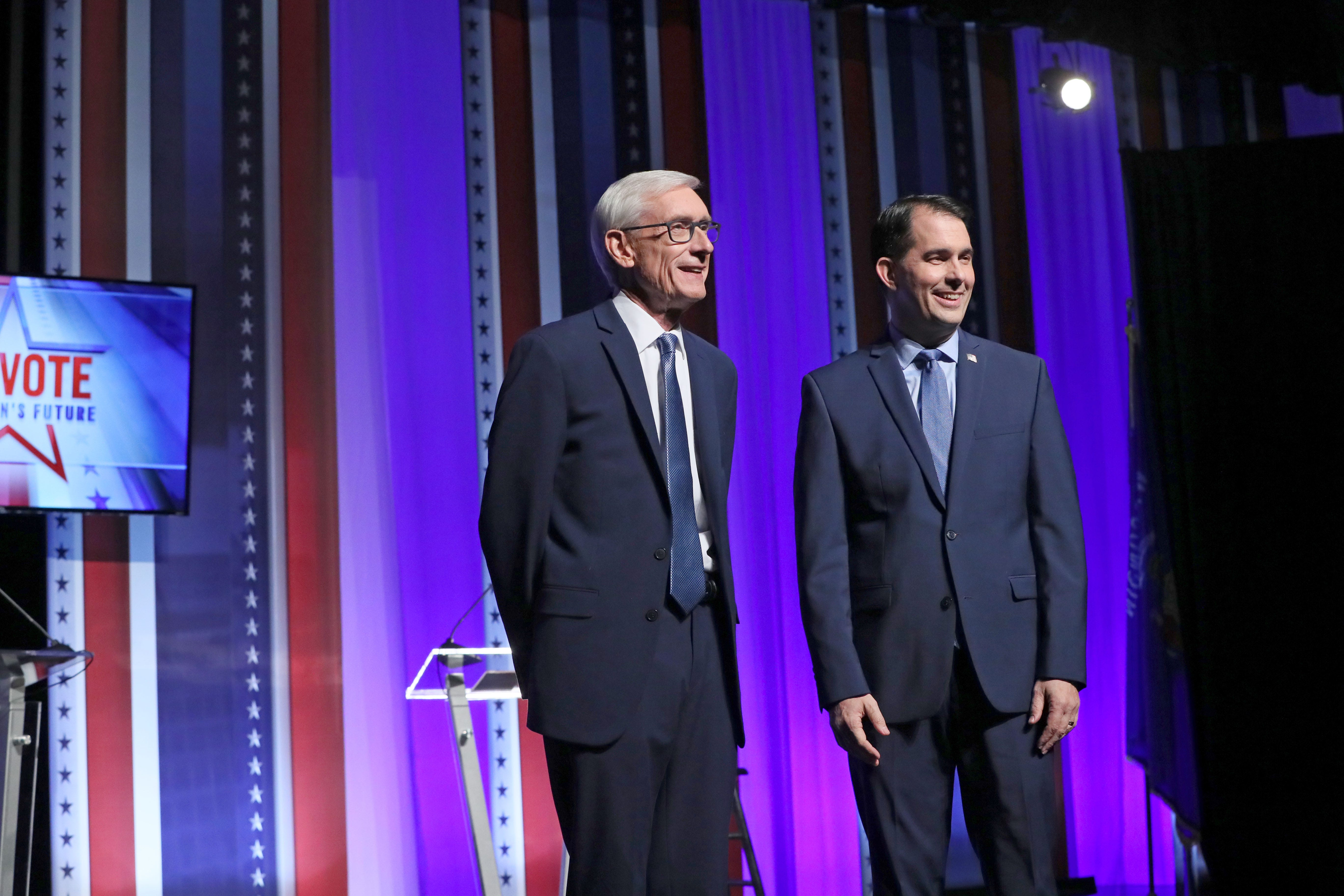 Shifting stances: Scott Walker takes new position on health care, Tony Evers takes new one on taxes