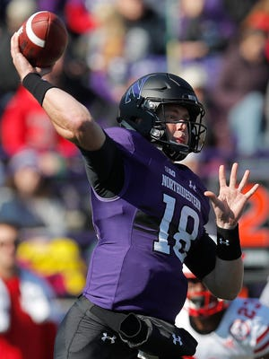 Northwestern quarterback Clayton Thorson has averaged 185.3 passing yards per game, with four touchdowns, two interceptions and 11 sacks, against Wisconsin.