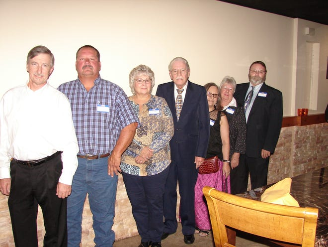 Eight new members were recentlywelcomed into the Benevolent and Protective Order of Elks in a Rite of Initiation Ceremony conducted by Wayne Markham, Exalted Ruler and President of the Mountain Home Elks on Sept. 25. Inducted were: (from left)Randall J Feinhold, Rodney Anderson, Susan Hayes,Rollo D'Selle, Paula Anderson,Joanne Holcomb and Earl Kinney.Not pictured: HillreyAdams. The Benevolent and Protective Order of Elks is one of the largest fraternal organizations in the US with over one million members, in some 2000 lodges including the Mountain Home Lodge, with more than 800 members in Baxter and surrounding counties. The Elks are well known for their support of youth activities and the veterans of the Armed Forces. For information, call (870) 425-3266.