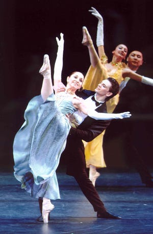 """Gold and Silver Waltzes,"" featuring five couples dancing to the music of Lehar and Strauss, is one of the pieces in  the New Jersey Ballet's program at the Mayo PAC on Saturday, November 10.  The program marks the official start of the Livingston-based company's 60th season."