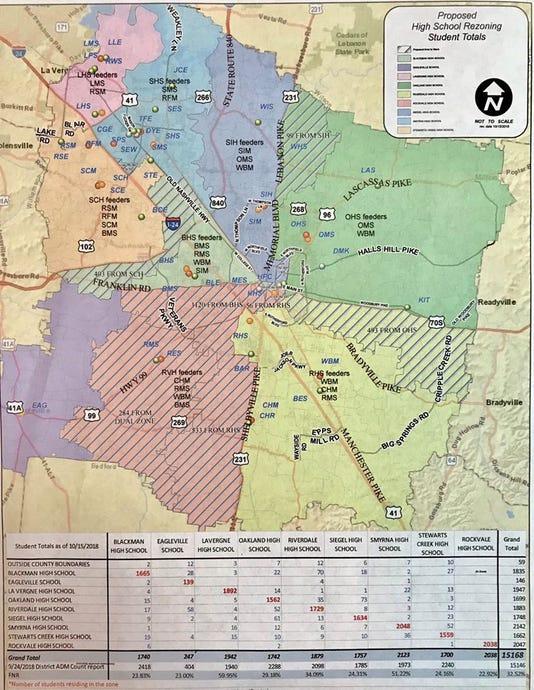 Proposed Rockvale HS zone