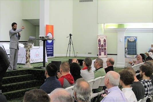 Ahmed Gives Presentation