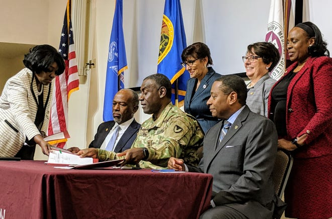"""U.S. Army Research, Development and Engineering Command and Meharry announced a joint agreement Thursday to advance research development in bioinformatics and data science with the goal of """"protecting our protectors."""""""