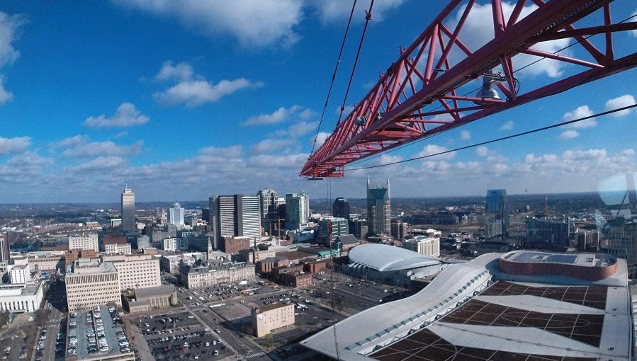 Nashville ranks high among most populous city in the nation, squeezing in above Portland, Memphis