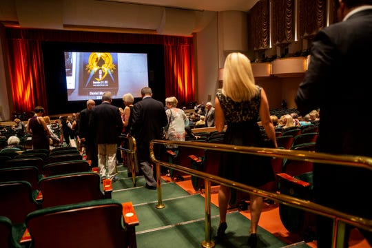 "Attendees take their seats before the showing of ""The Drummer and The Keeper"" during the Naples International Film Festival on Thursday, October 25, 2018, at ArtisÑNaples."