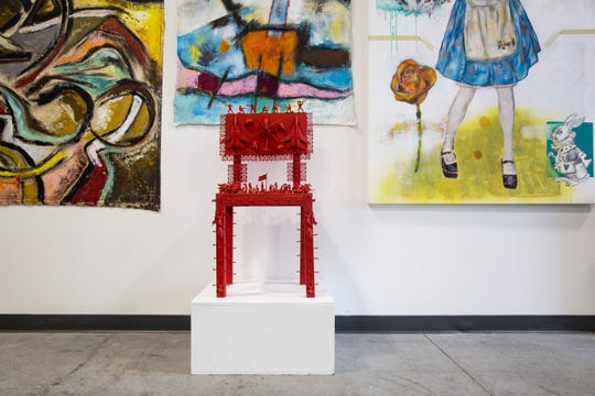 Venezuelan-American artist Arturo Correa's work is displayed on Wednesday, October 24, 2018, at his studio in Naples. A large portion of Correa's recent work is based on the political upheaval in his home country of Venezuela.