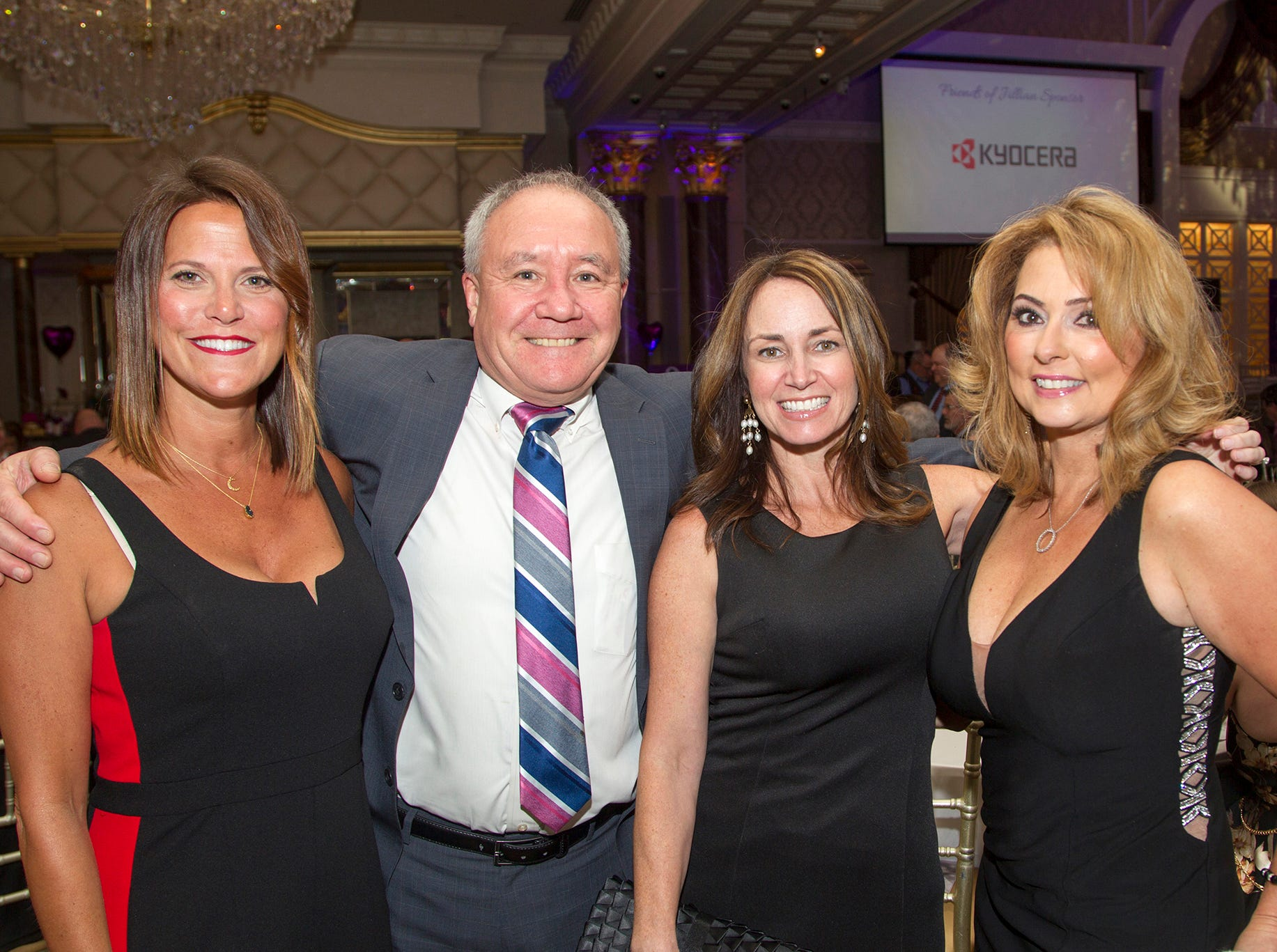 "Amy Ranttila, Paul Vitale, Kelly Rahill, Kim Gritas. The Jillian Fund held its ""Taste of Italy"" at The Venetian in Garfield. The evening featured casino games, wine tasting, and a silent auction. 10/24/2018"