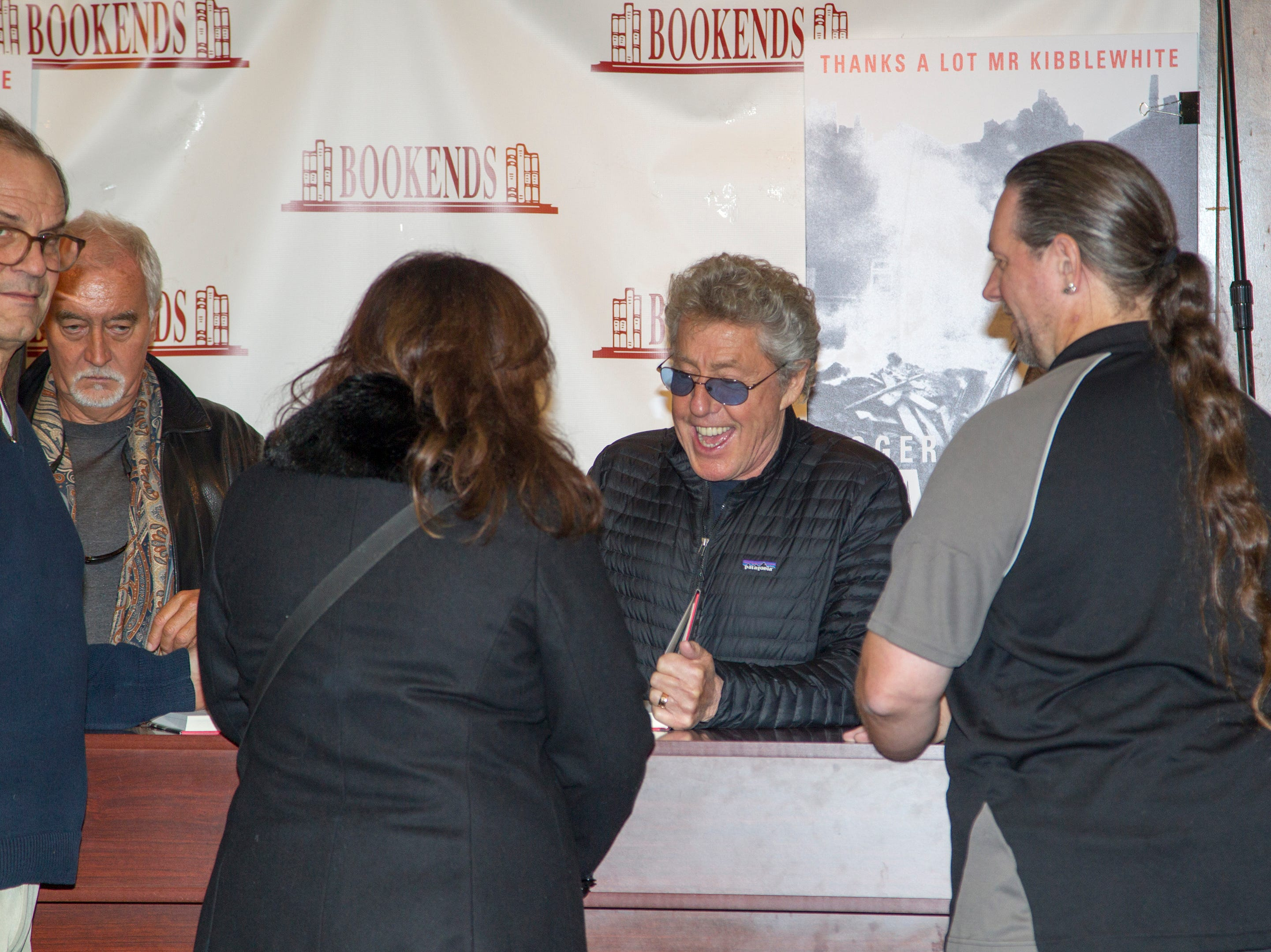 Roger Daltrey, lead singer of The Who, stopped off at Bookends recently to sign copies of his new memoir. There was quite a turnout to see the venerable rock legend in person.