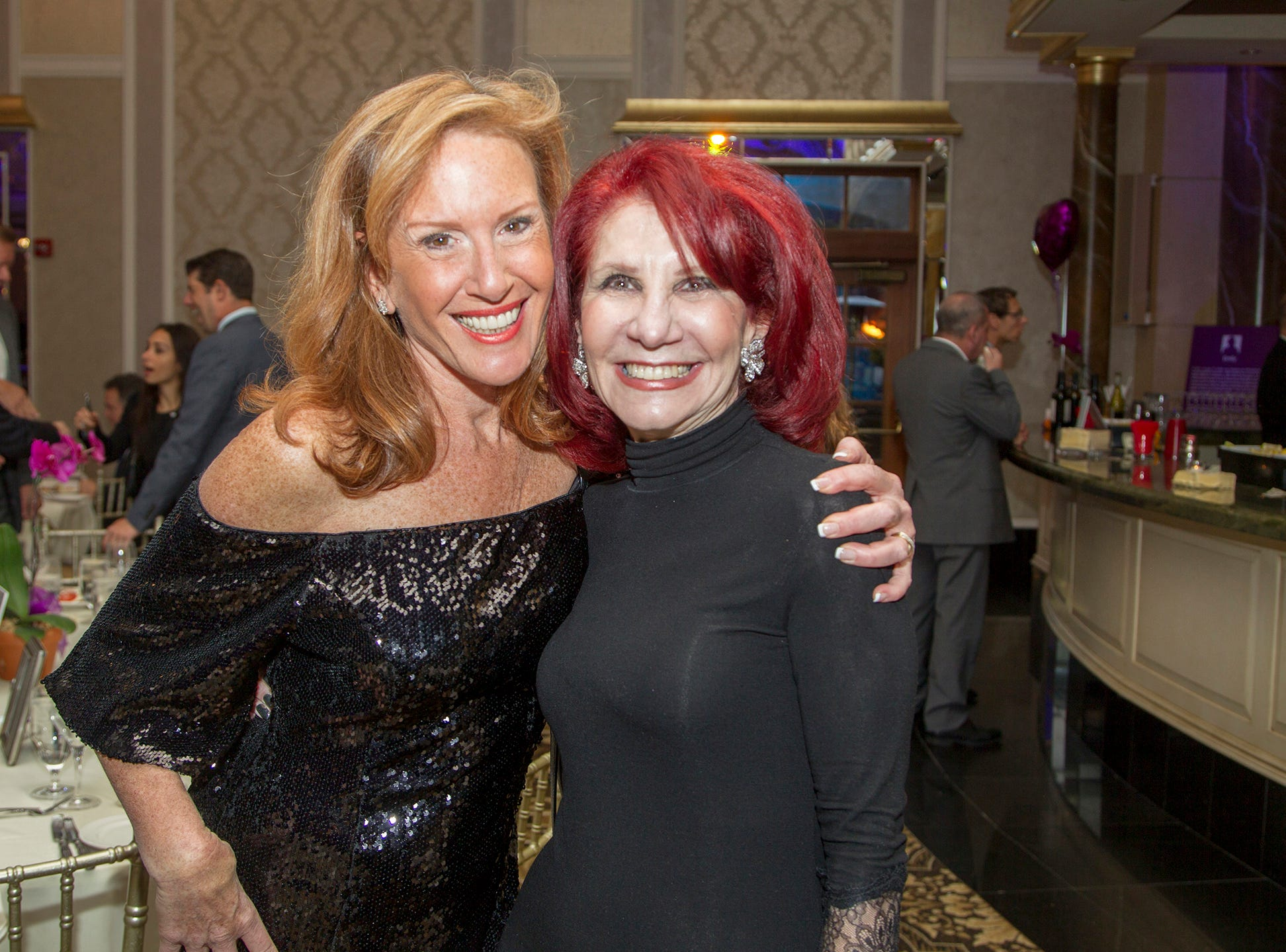 "Patti Kanner, Carol Cannata. The Jillian Fund held its ""Taste of Italy"" at The Venetian in Garfield. The evening featured casino games, wine tasting, and a silent auction. 10/24/2018"