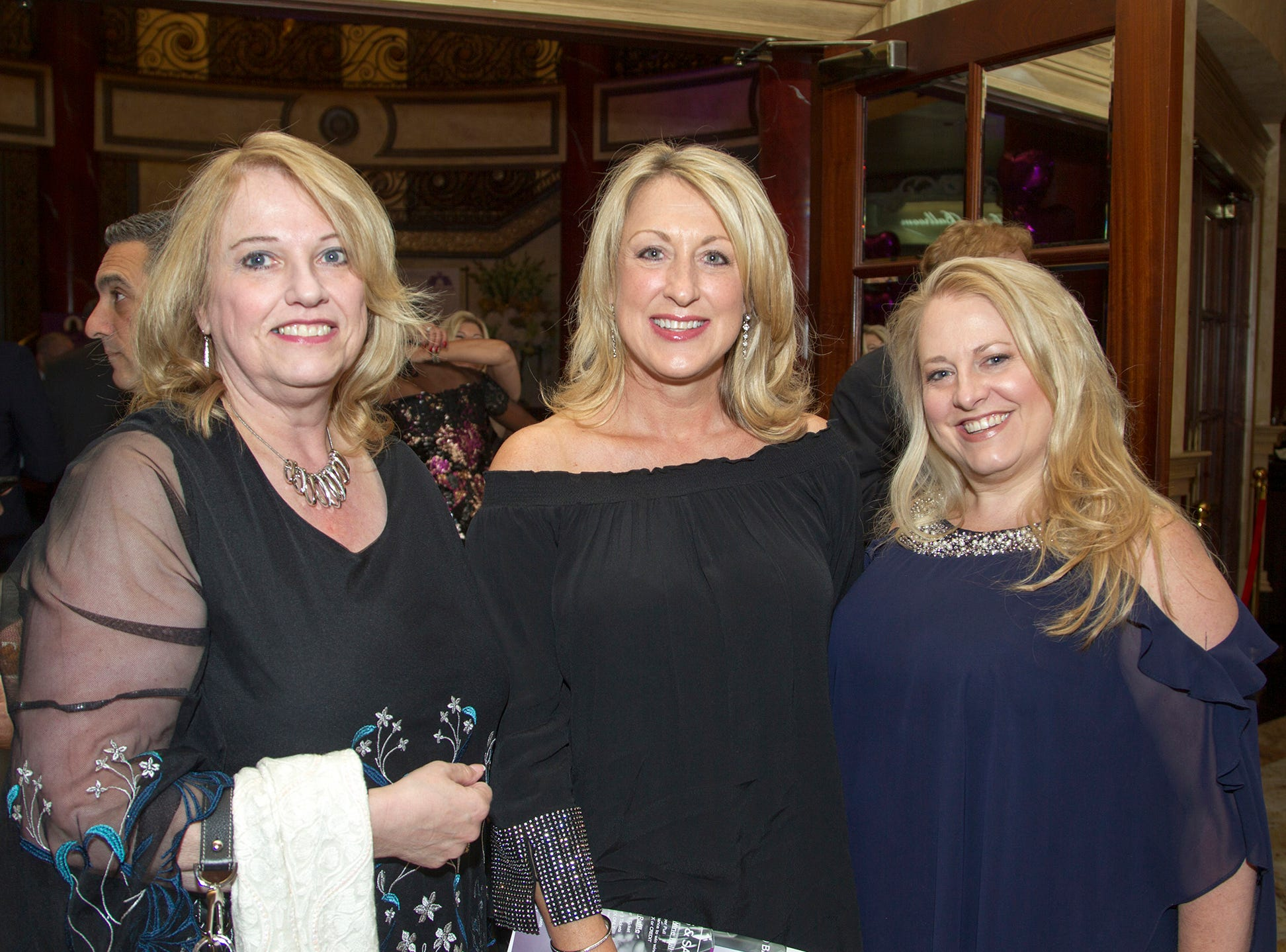 "Dale Russell, Suzanne Bayer, Jennifer Healy.The Jillian Fund held its ""Taste of Italy"" at The Venetian in Garfield. The evening featured casino games, wine tasting, and a silent auction. 10/24/2018"