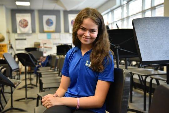 Elena Perez, a senior at Lyndhurst High School