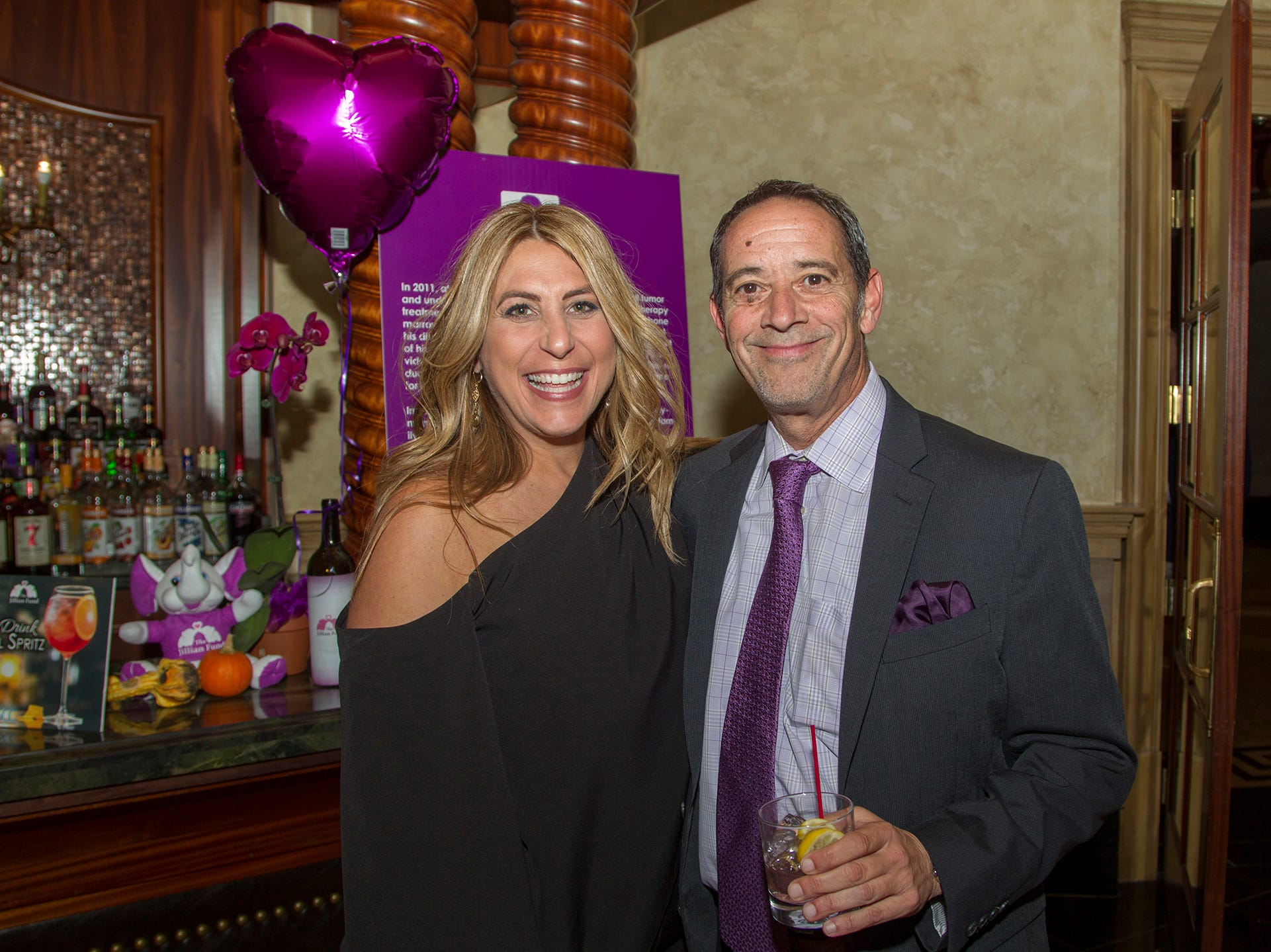 "Gina Wosp, Louis Holden. The Jillian Fund held its ""Taste of Italy"" at The Venetian in Garfield. The evening featured casino games, wine tasting, and a silent auction. 10/24/2018"