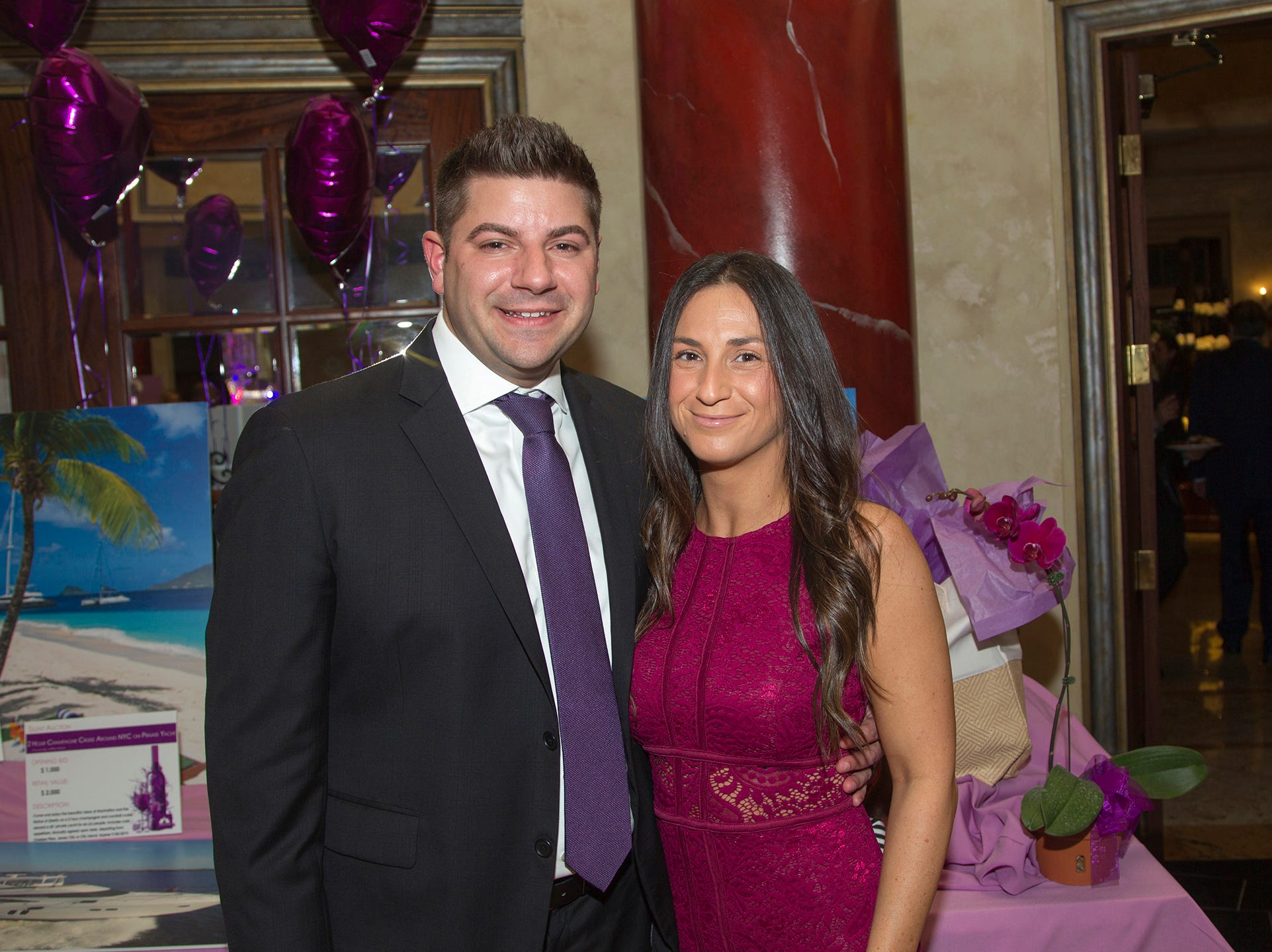 "Ryan and Whitney Luciano. The Jillian Fund held its ""Taste of Italy"" at The Venetian in Garfield. The evening featured casino games, wine tasting, and a silent auction. 10/24/2018"