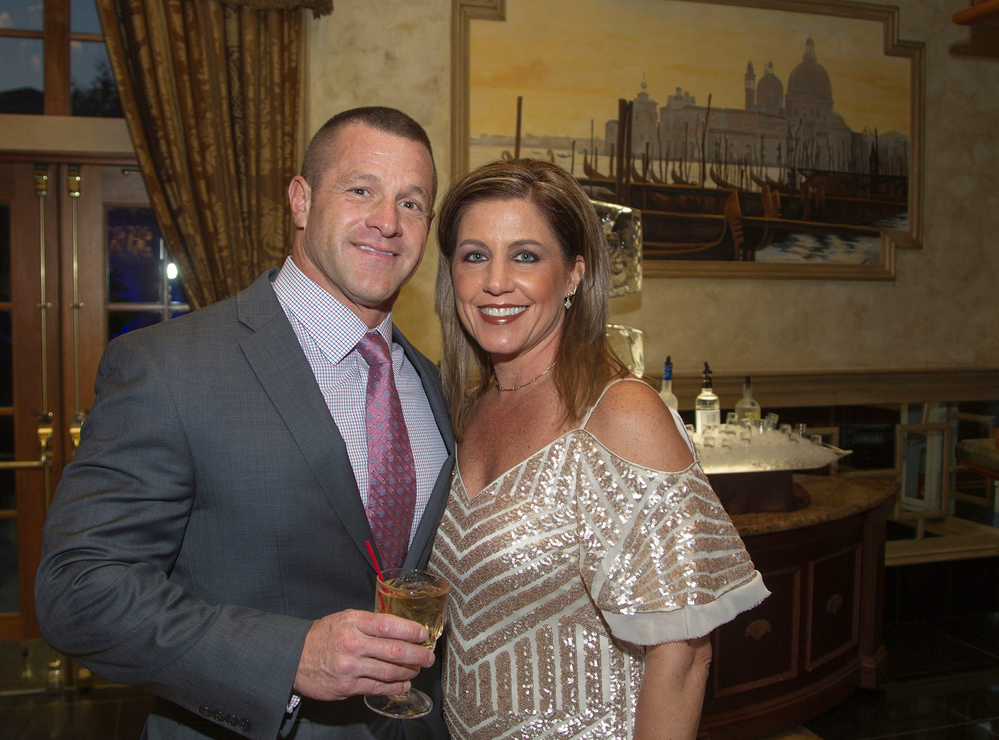 "Mark and Michelle LaFave. The Jillian Fund held its ""Taste of Italy"" at The Venetian in Garfield. The evening featured casino games, wine tasting, and a silent auction. 10/24/2018"